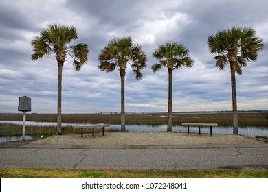 Cove Inlet separates Mt. Pleasant from Sullivan's Island in South Carolina while providing views of the harbor, Fort Sumter and Charleston.