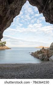 The cove sa tuna in Begur, Costa brava, Girona, Catalonia