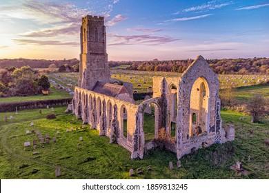 Covehithe Church in Suffolk, UK