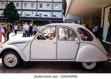 Coventry, UK - June 2nd, 2018: Citroen 2CV in Coventry City Centre, Motor show of Coventry 2018