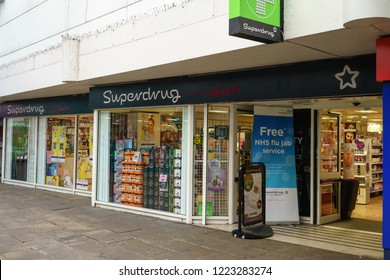 Coventry, UK - November 3, 2018: Superdrug is a health and beauty retailer in the United Kingdom