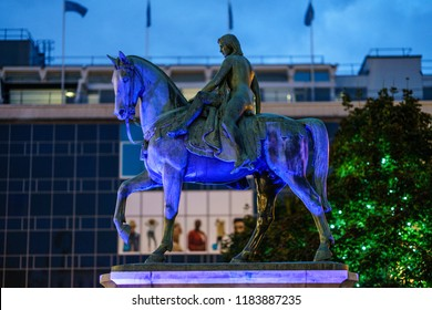Coventry, UK - September 13th, 2018 :  Lady Godiva Statue Town Centre of Coventry
