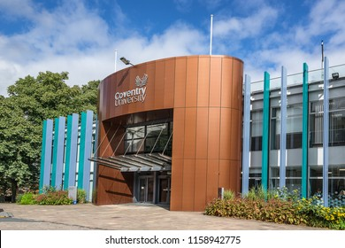 Coventry,England on 15th Aug 2018: The Alan Berry building is used by Coventry University Business Development, Registry and is also the Vice Chancellors Office