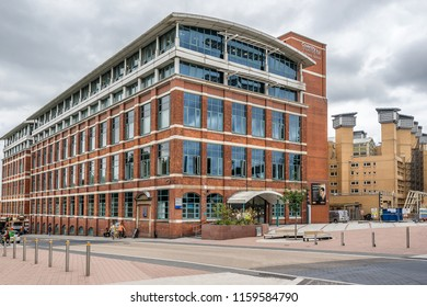 Coventry,England on 15th Aug 2018: The William Morris building is home to Coventry University Faculty of Business and Law. It is named after the founder of the Morris car company
