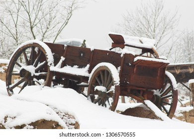Cover cart in the snow