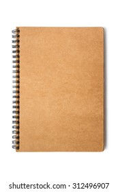 Cover notebook on white background