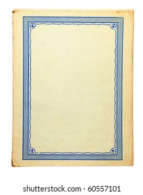 Cover of old book, isolation on a white background