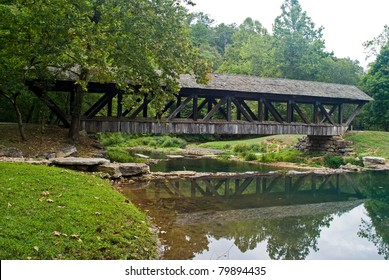 Covered Bridge Dogwood Canyon Park Nature Park-Branson, Missouri