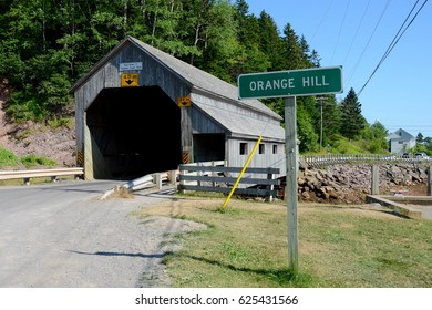 Covered Bridge at Orange Hill, New Brunswick, Canada