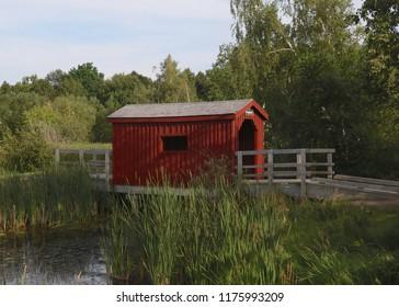 Covered bridge at Sackville Waterfowl Park, New Brunswick
