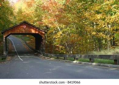 Covered Bridge in The Sleeping Bear Dunes National Forest.