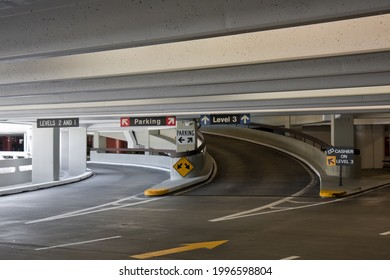 Covered parking at the San Francisco airport.