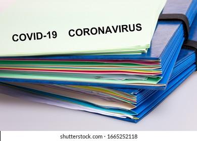 covid-19 Coronavirus-Papierdatei und wissenschaftliche Dokumentation des Covid-19-Corona-Virus