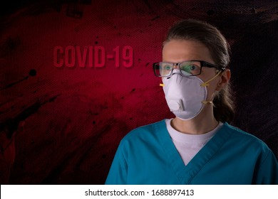 COVID-19 healthcare worker using PPE protective equipment. Nurse or doctor theme preparing for virus treatment.
