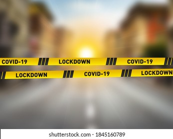Covid-19 Lockdown concept. CORONAVIRUS LOCKDOWN. Covid-19 Pandemic world lockdown for quarantine. World many country and city under lockdown concept. - Shutterstock ID 1845160789