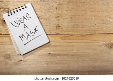 Covid-19-Hinweise: Maske tragen