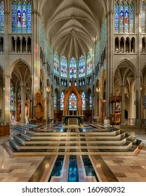 COVINGTON, KENTUCKY - OCTOBER 28: Interior of the St. Mary's Cathedral Basilica of the Assumption on October 28, 2013 in Covington, Kentucky