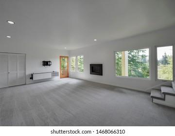 Covington, WA / USA - July 31, 2019: Modern residential interior