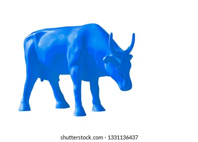 Cow blue color on isolated background