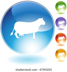 Cow icon isolated on a white background.