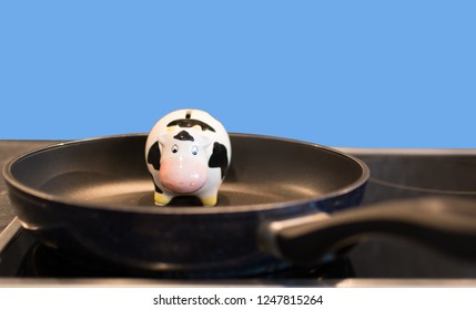Cow in a pan