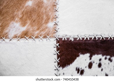 cow rug texture background