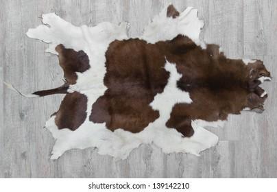 cow skin made into a carpet