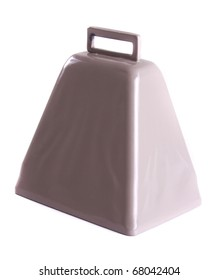 Cowbell on a white background