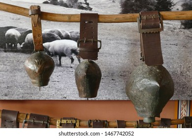 Cowbells and harness in the Ethnographic Museum, Plovdiv, Bulgaria