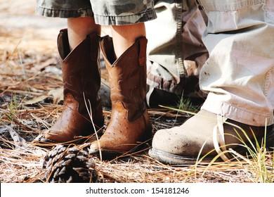 Cowboy boots kid work boots man