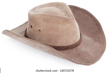 cowboy hat closeup, isolated background