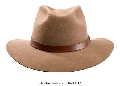 cowboy hat isolated on white close up shoot