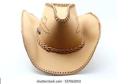 cowboy hat on white background