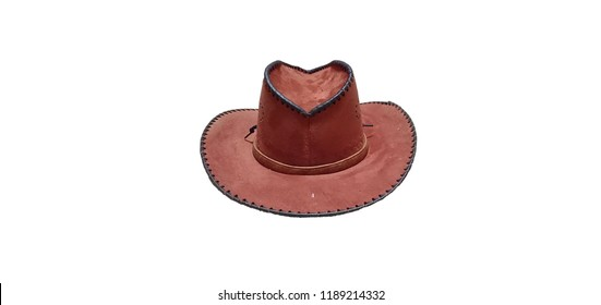 Cowboy hat in white background
