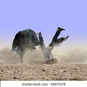 Cowboy with his face in the dust  isolated with clipping path