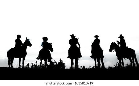 Cowboy on horseback