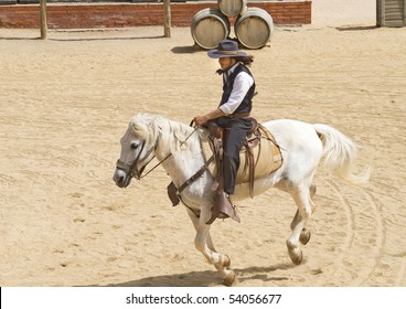 Cowboy Sheriff riding his horse
