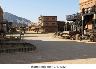 Cowboy Town at Mini Hollywood, Tabernas, Almeria Province, Andalusia, Spain