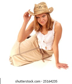 cowgirl in the long skirt