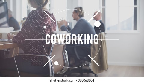 Coworking Working Corporate Colleagues Concept
