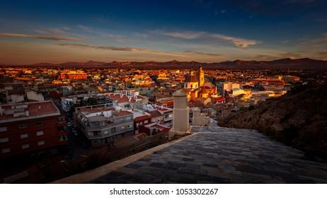 Cox,Alicante from the castle