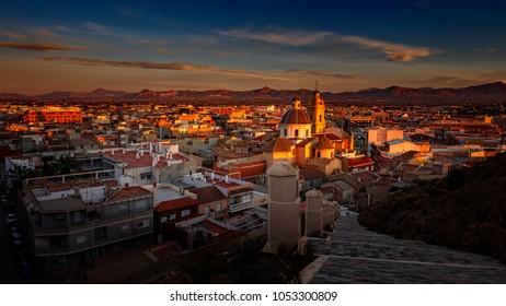 Cox,Alicante,from the castle