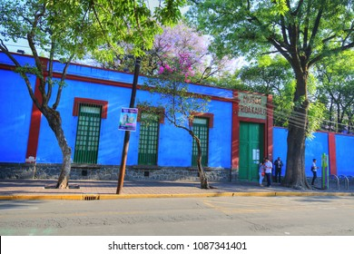 COYOACAN, MEXICO-20 APRIL, 2018: Frida Kahlo Museum
