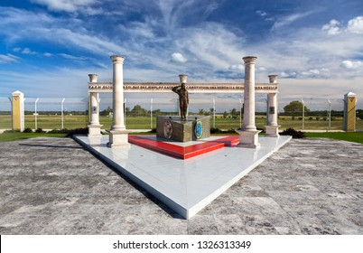 Cozumel, Mexico - December 16, 2018: Mexican Military Base (Base Aerea Militar) Aerospace Memorial and Second World War Monument
