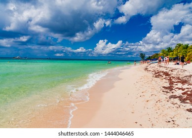 Cozumel, Mexico - February 13 2019: panorma of the island of Cozumel in Mexico in the Caribbean sea