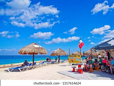 COZUMEL, MEXICO - March 1, 2016: Cozumel is an island in the Caribbean Sea off the eastern coast of Mexico's Yucat n Peninsula, opposite Playa del Carmen, and close to the Yucat n Channel.