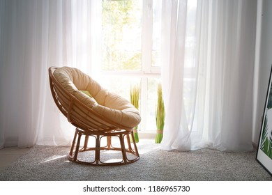 Cozy armchair for rest near window