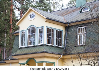 Cozy classic rural private home in Jurmala. Rooftop and pine tree forest around. Calm rural area.