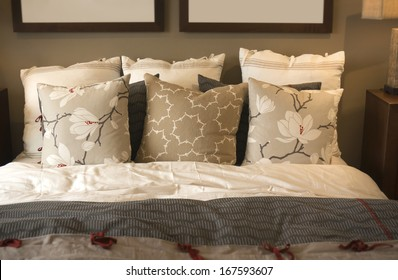 Cozy comfortable bedding and cushions