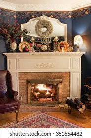 Cozy Corner Fireplace, HDR